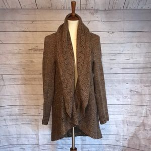 Large brown knit sweater